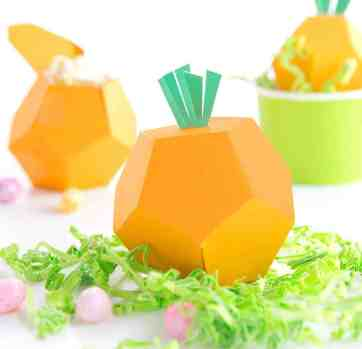 Printable Carrot Treat Boxes
