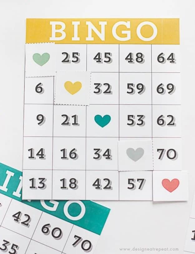 Printable & Cute Bingo Cards - Download free over at Design Eat Repeat!