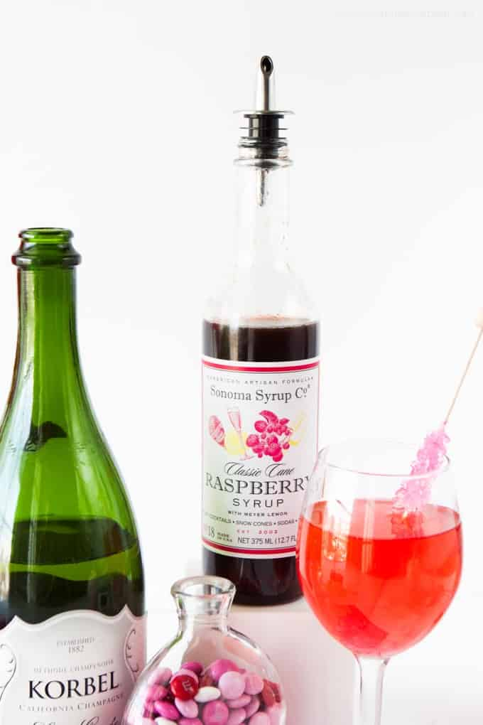 Raspberry Champagne Spitzers! These would make a fun Valentines Day idea!