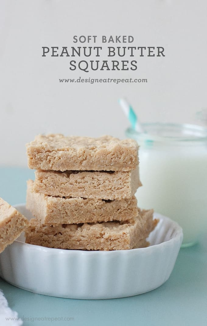 Soft Baked Peanut Butter Squares