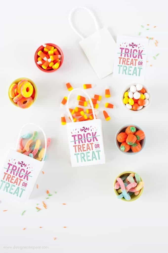 """""""Treat or Treat"""" Halloween Treat Bags by Design Eat Repeat"""