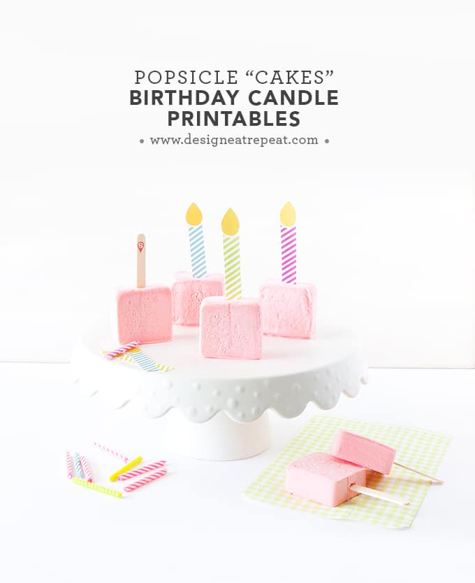 Turn ordinary popsicles & sorbet bars into frozen birthday cakes with these free candle printables! Attach one to each popsicle stick for a easy birthday treat!