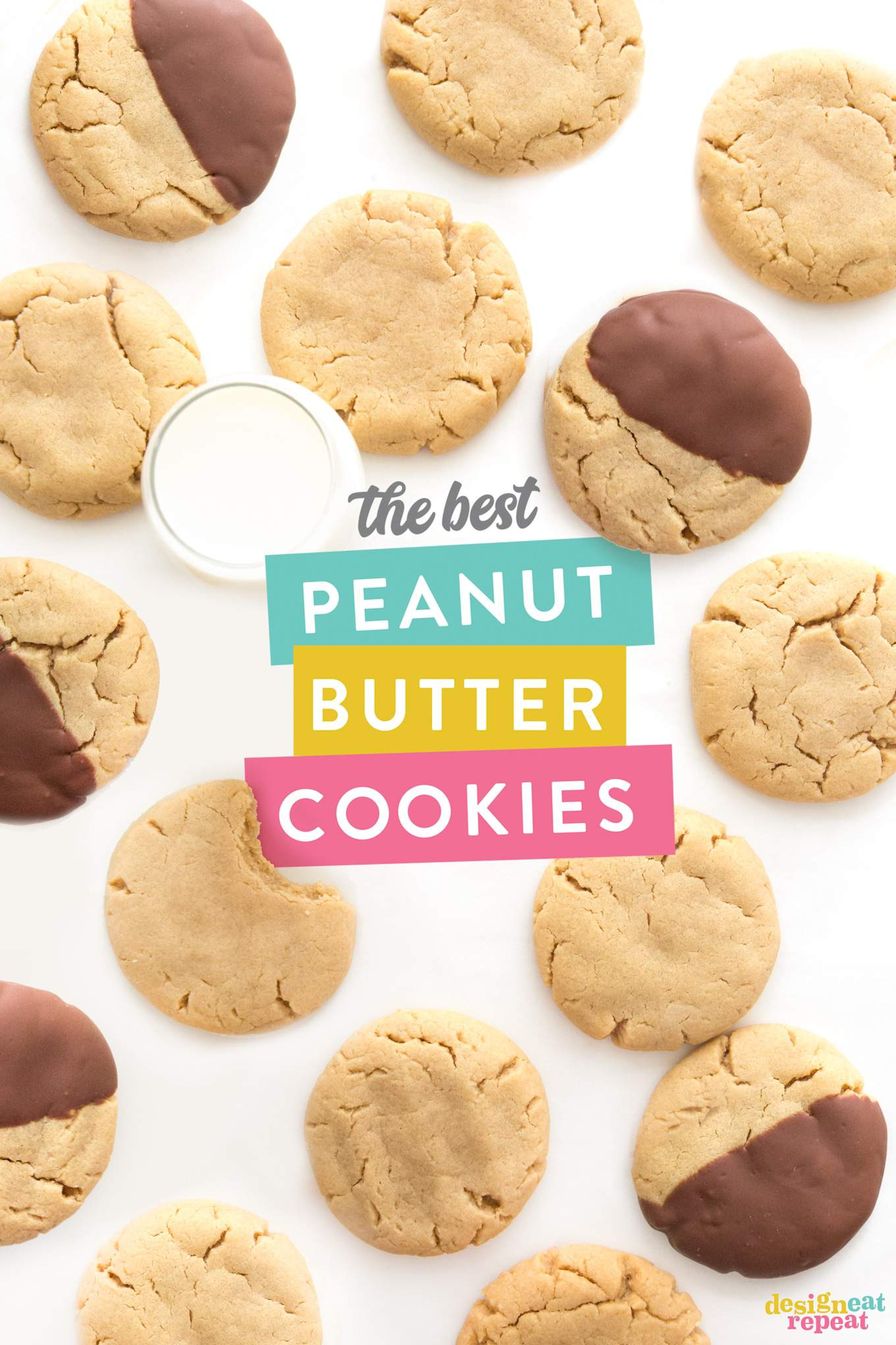 The best peanut butter cookies - perfectly soft, thick, moist, chewy, and delicious!