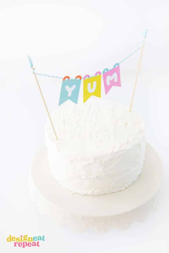 Top off your favorite cake with the colorful (and free!) Printable Cake Topper Banner!