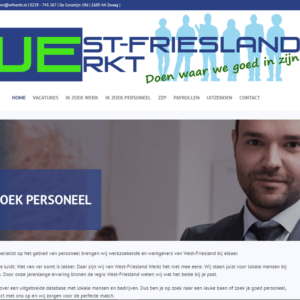 West-Friesland Werkt website