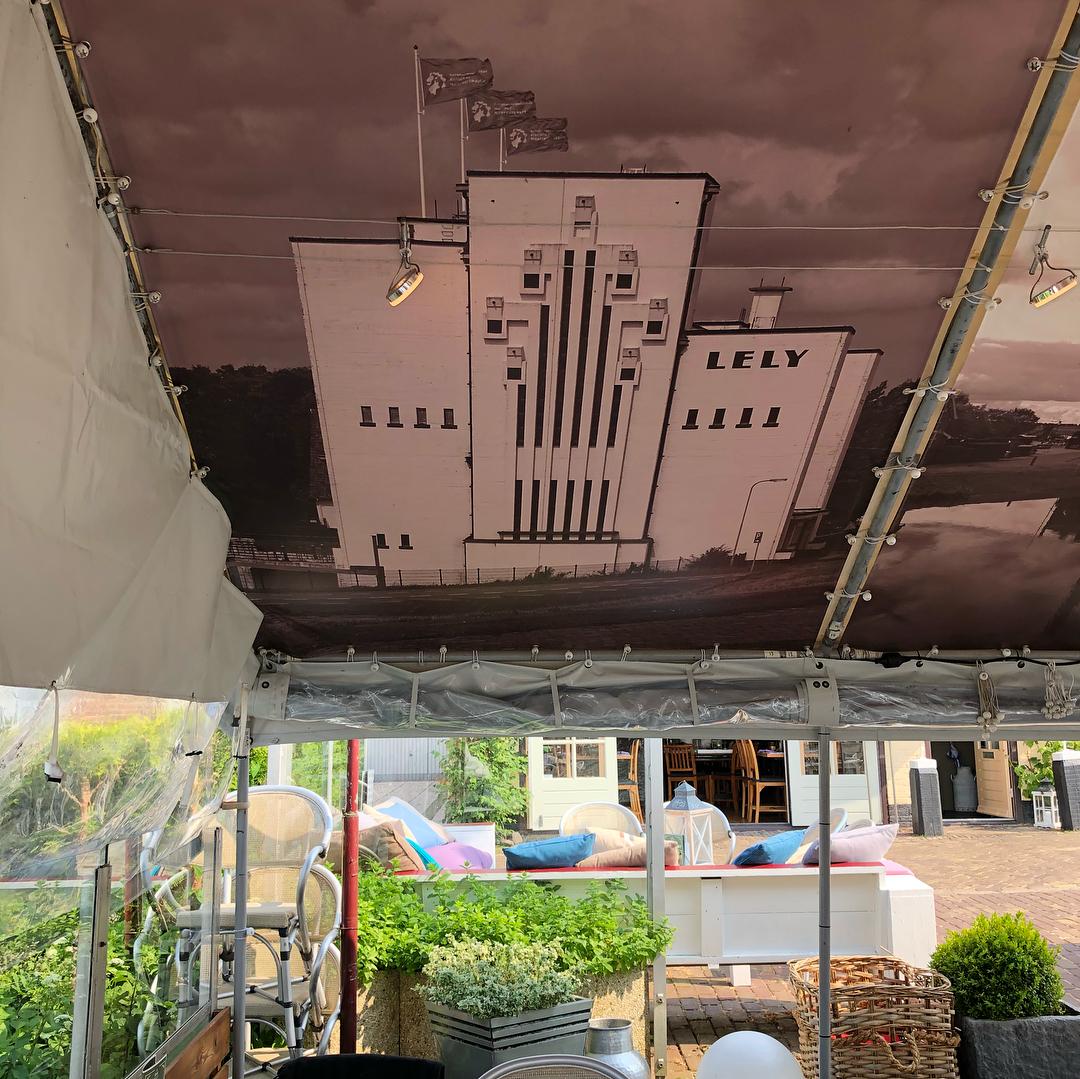 Restaurant d'Artiest plafonddoek Stoomgemaal