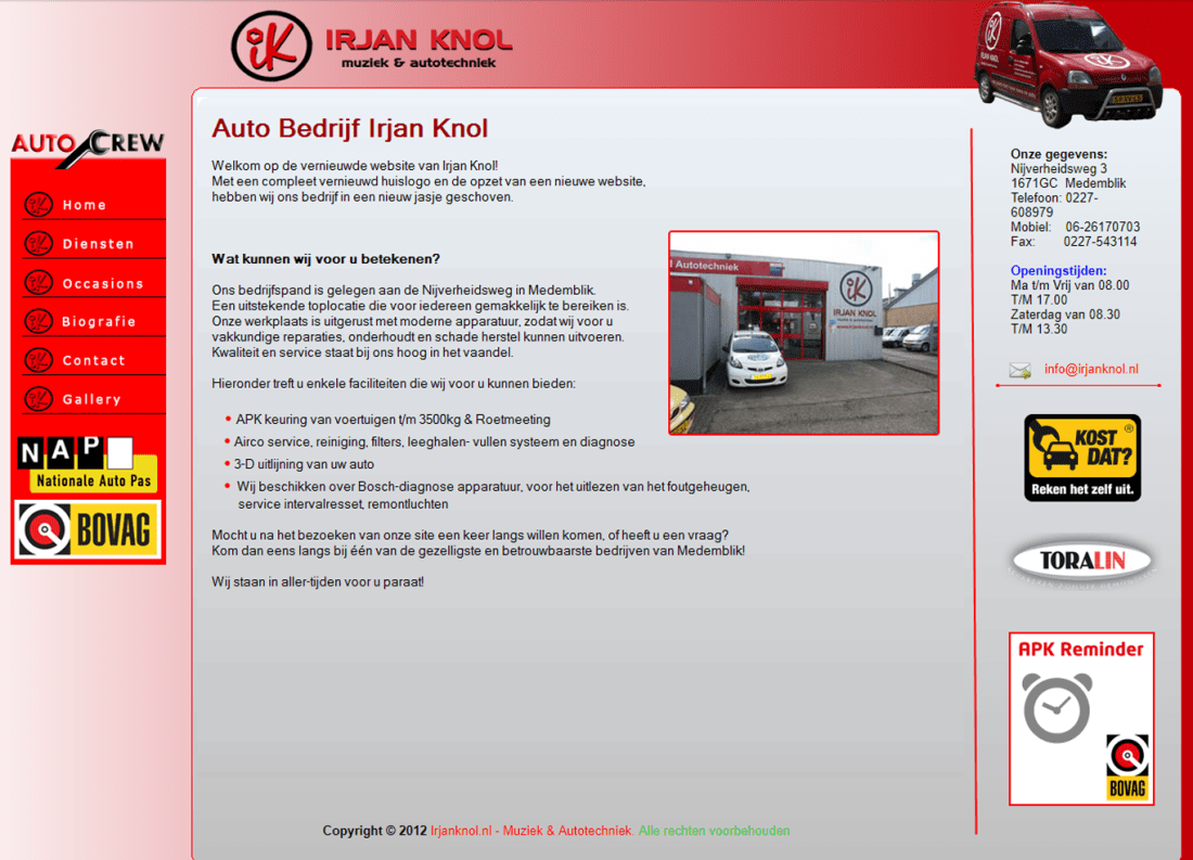irjan knol oude website