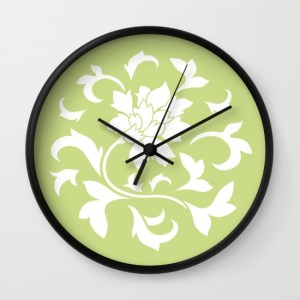 oriental-flower-daiquiri-green-wall-clocks