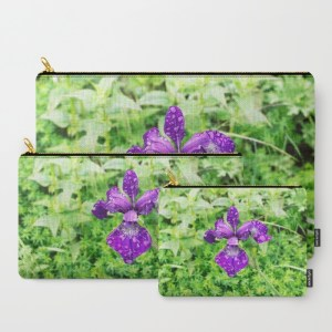 purple-iris-flower-with-raindrops-kbv-carry-all-pouches