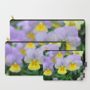 yellow-purple-pansy-flower-7g9-carry-all-pouches