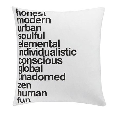 helvetica pillow