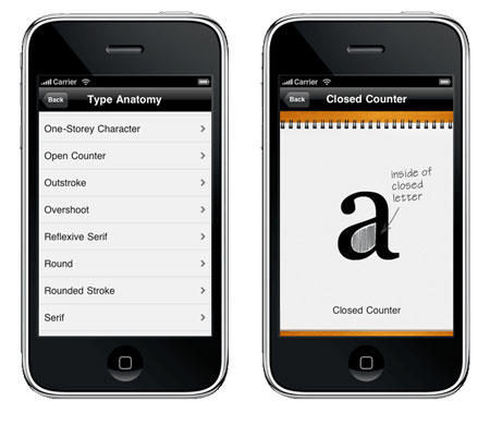 iphone app typography manual