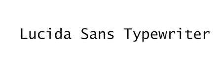 lucida-sans-typewriter