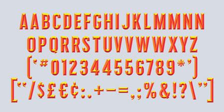 prismatic font sample