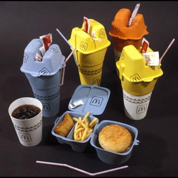 Embalaje compartimentado de comida rápida