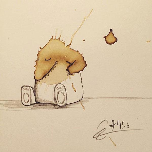 coffee-mancha-Doodle-monstruos-coffeemonsters-stefan-kuhnigk65
