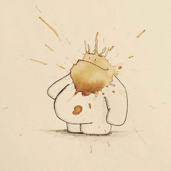 coffee-mancha-Doodle-monstruos-coffeemonsters-stefan-kuhnigk69