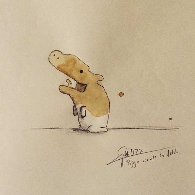 coffee-mancha-Doodle-monstruos-coffeemonsters-stefan-kuhnigk79