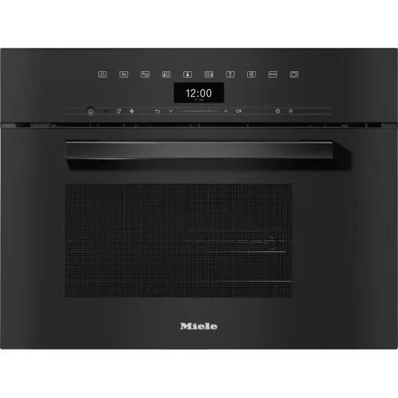 miele vitroline steam oven with microwave obsidian black