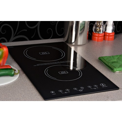 Summit SINC2220 12 Induction Cooktop With 2 Cooking Zones
