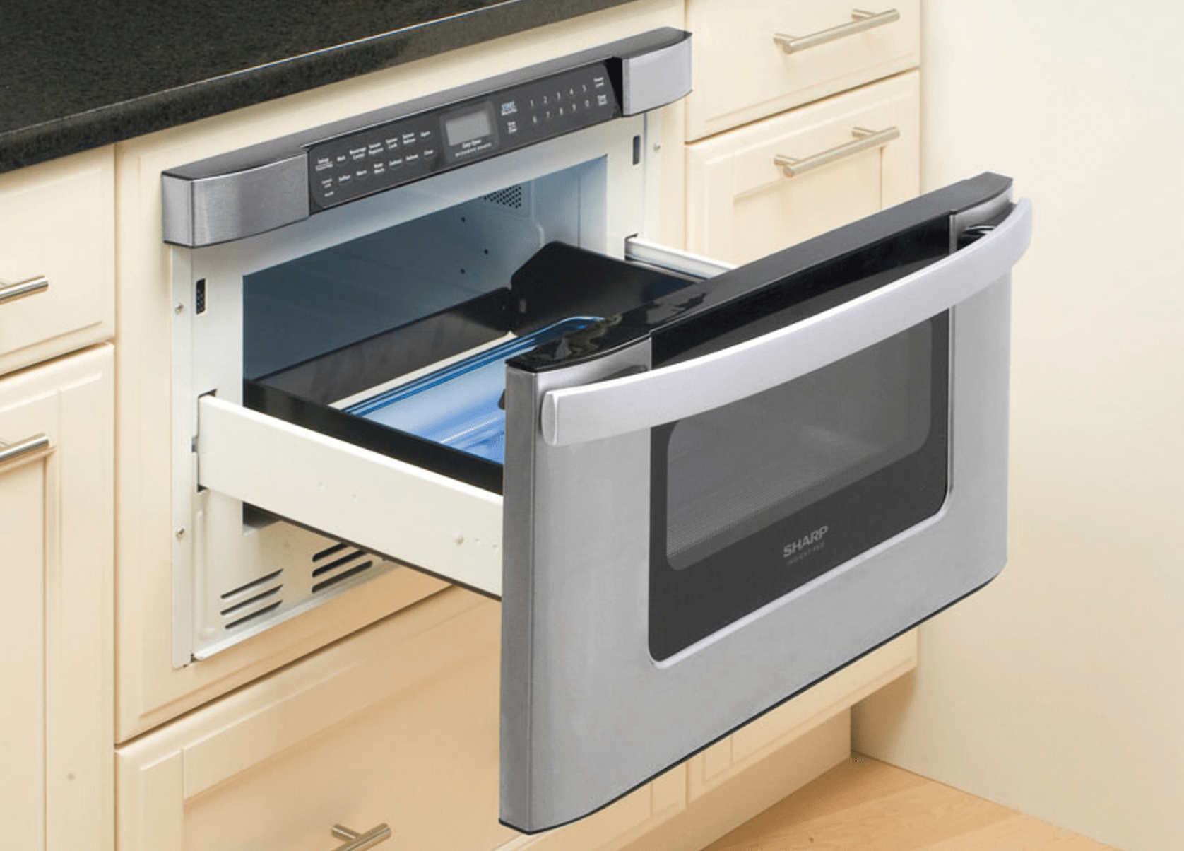 sharp kb6524psy 24 microwave drawer with towel bar handle