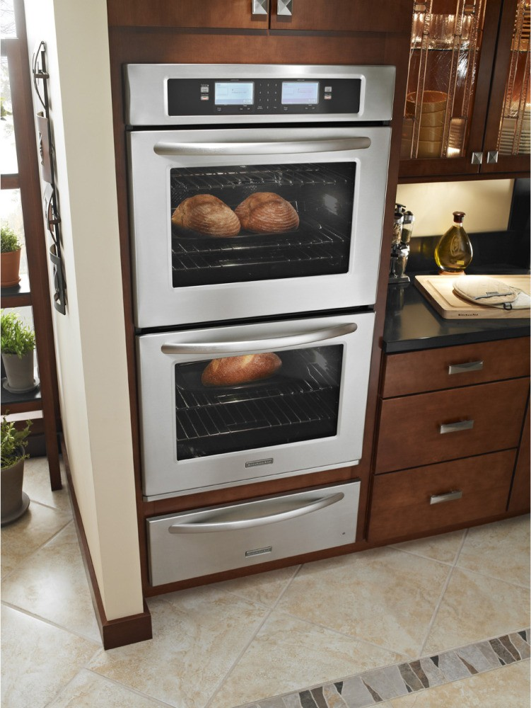 double steam assist electric wall oven