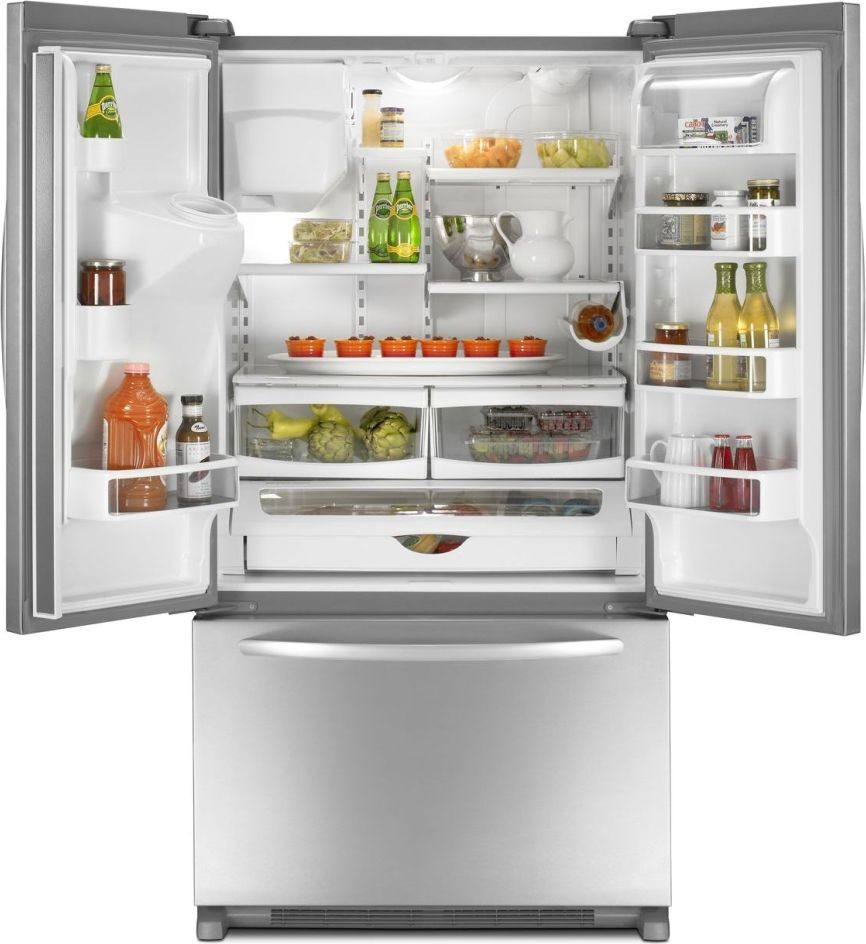 KitchenAid KFIS20XVMS 199 Cu Ft Counter Depth French Door Refrigerator With 4 Adjustable