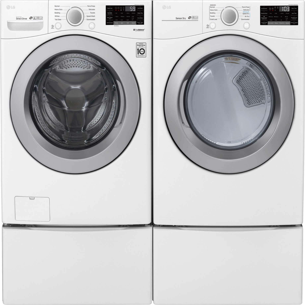 Lg Wm Cw Washer Amp Dlg W Gas Dryer W Pedestal Drawers