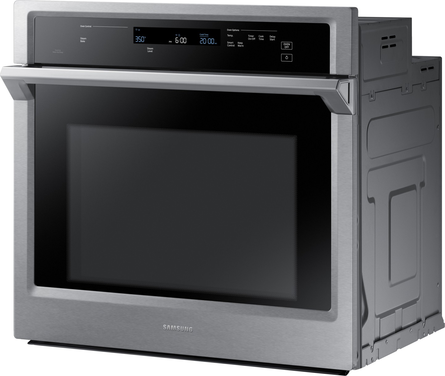 NV51K6650SS Samsung 30 Single Wall Oven With Steam Bake Convection Stainless Steel
