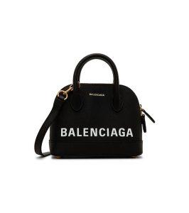 Balenciaga canary Black Ville XXS leather