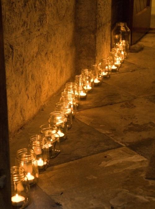 tealights wedding floor