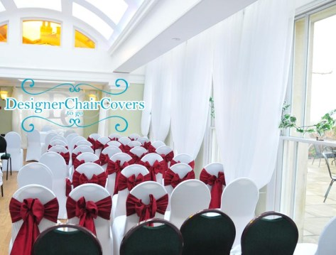 draping pembroke lodge wedding chair covers