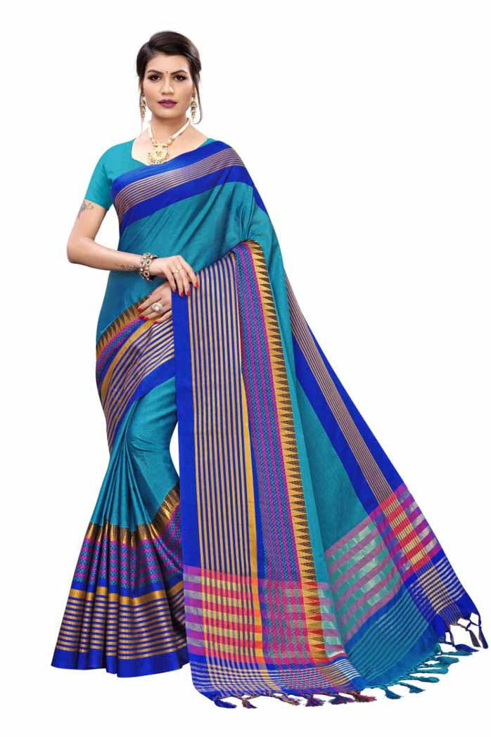 Temple Soft Cotton Silk Saree