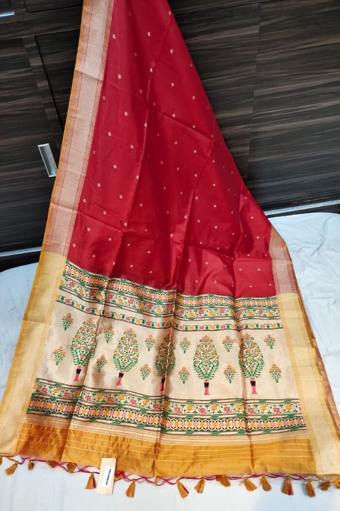 red Paithani Saree-sw02a