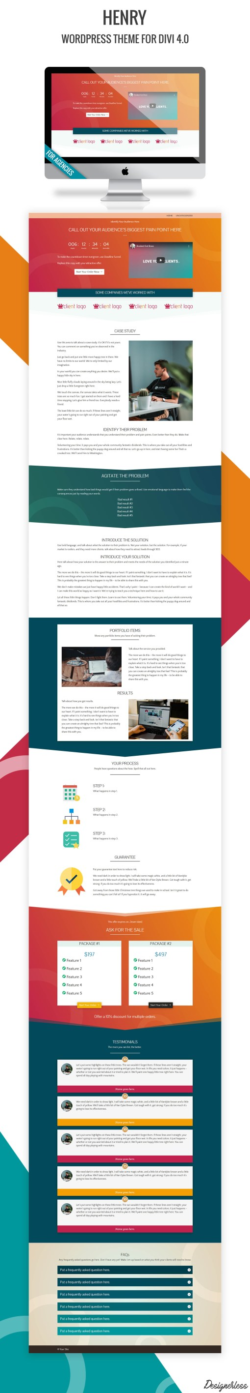 Henry - WordPress Theme Preview