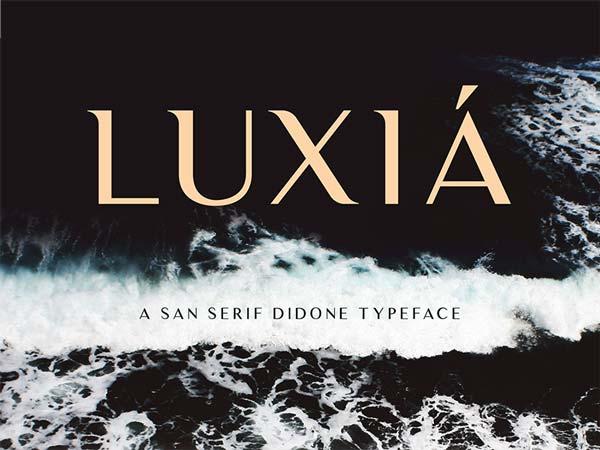 Luxia - Free Font | DesignerMill