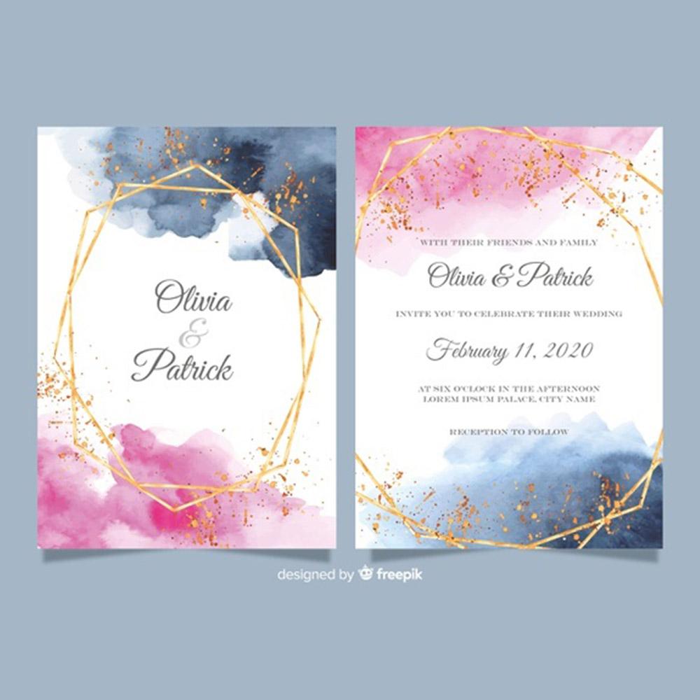 indian wedding card design complete