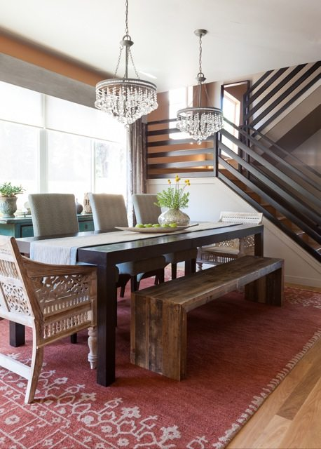 dining bench and table