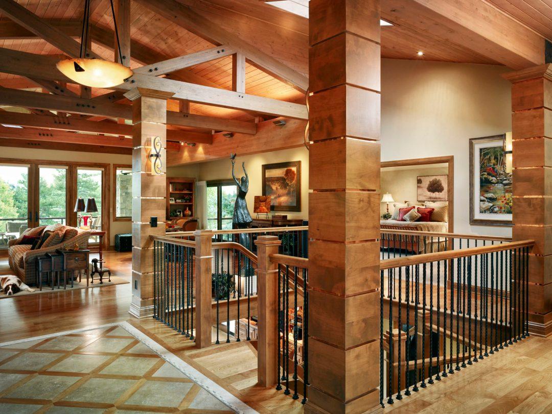 Pinehurst foyer, pam, entry, family