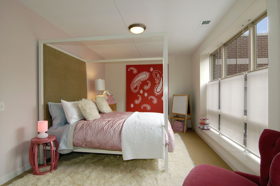 lenore callahan interior design, Roosevelt Square, CHICAGO: TOWNHOME MODEL, bedroom