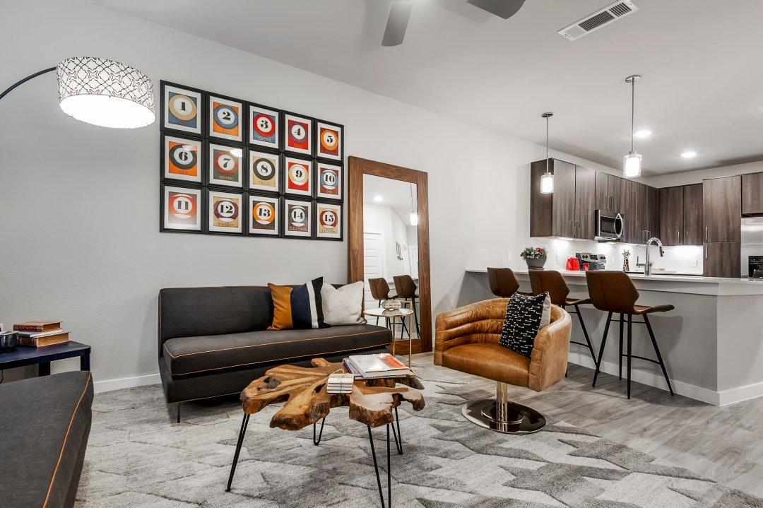 lenore, loft living room