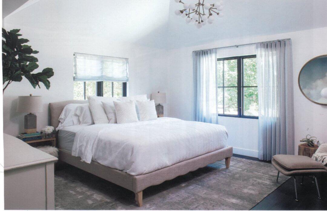 bedroom, denver life magazine showhome