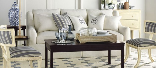 Interior Designer Showroom   Interior Design   Richmond  VA Blue and white living room