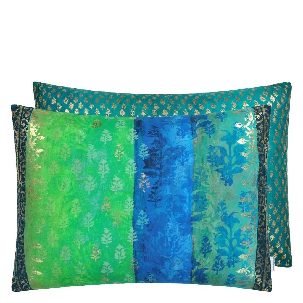 kasavu emerald decorative pillow