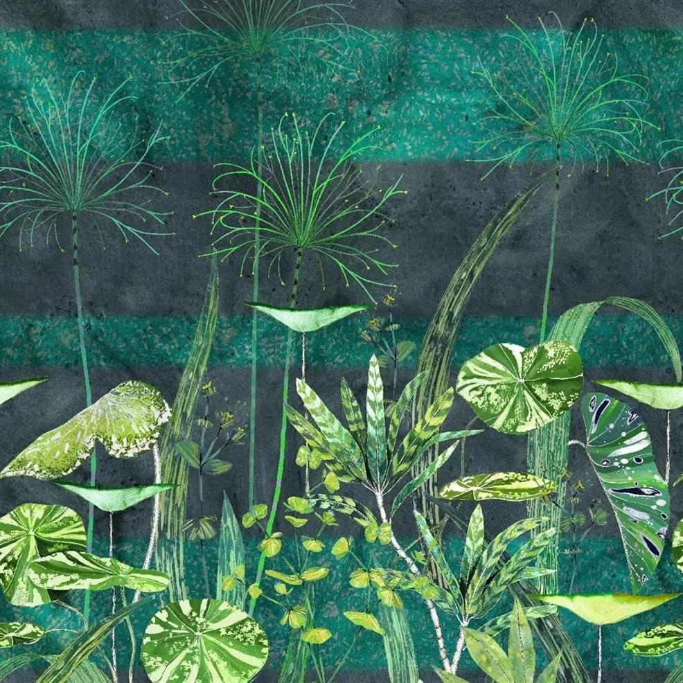 papier peint arjuna leaf viridian