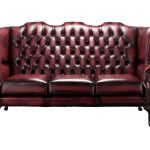 Oxblood Chesterfield 3 Seater Mallory High Back Sofa Chair Designersofas4u