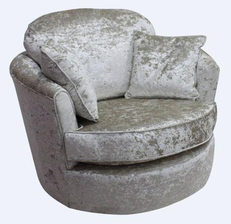 Cuddler Svivel Chair Senso Pearl Velvet