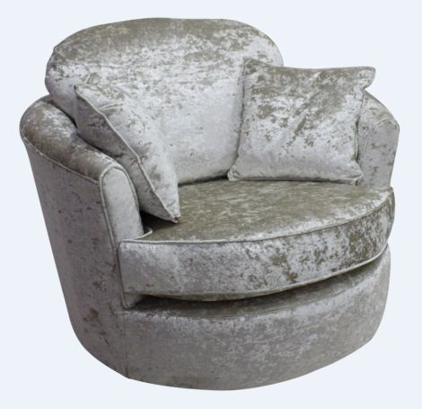 Cuddler Svivel Chair Senso Pearl Velvet