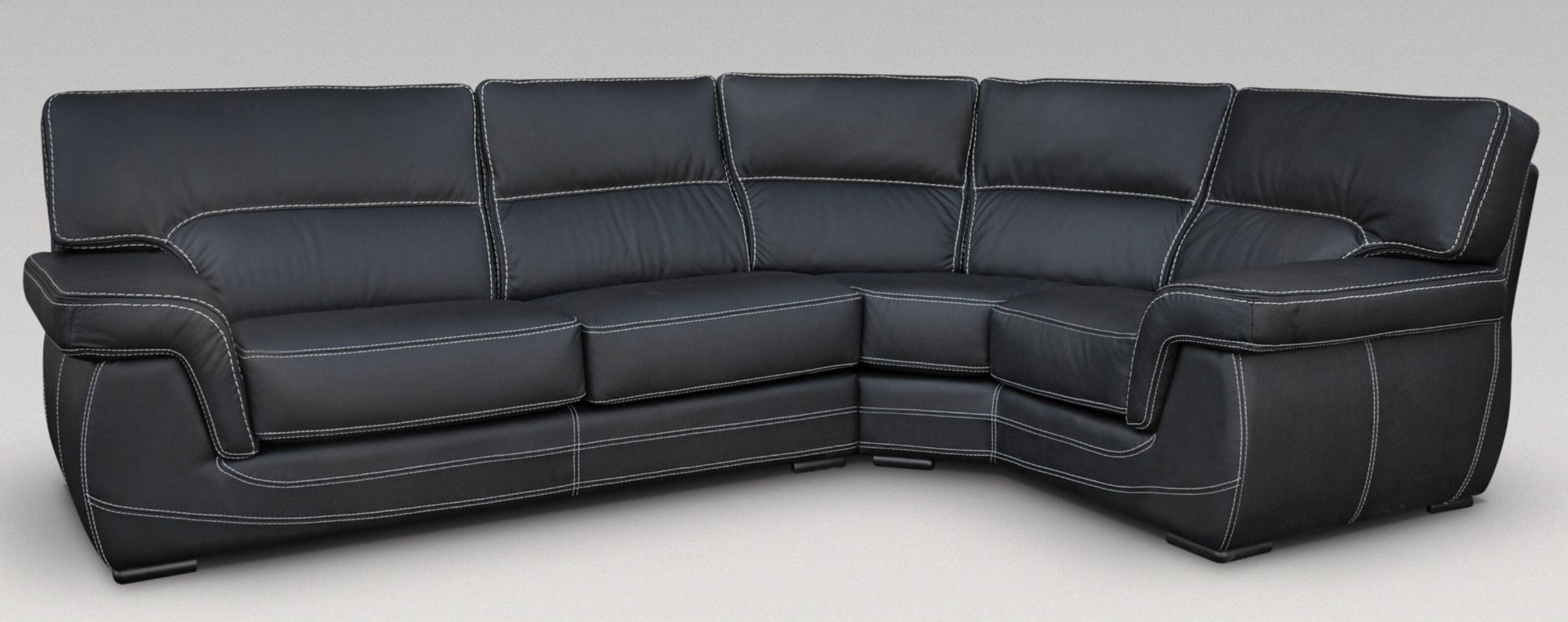 babylon 3 corner 1 genuine italian black leather corner sofa group suite offer