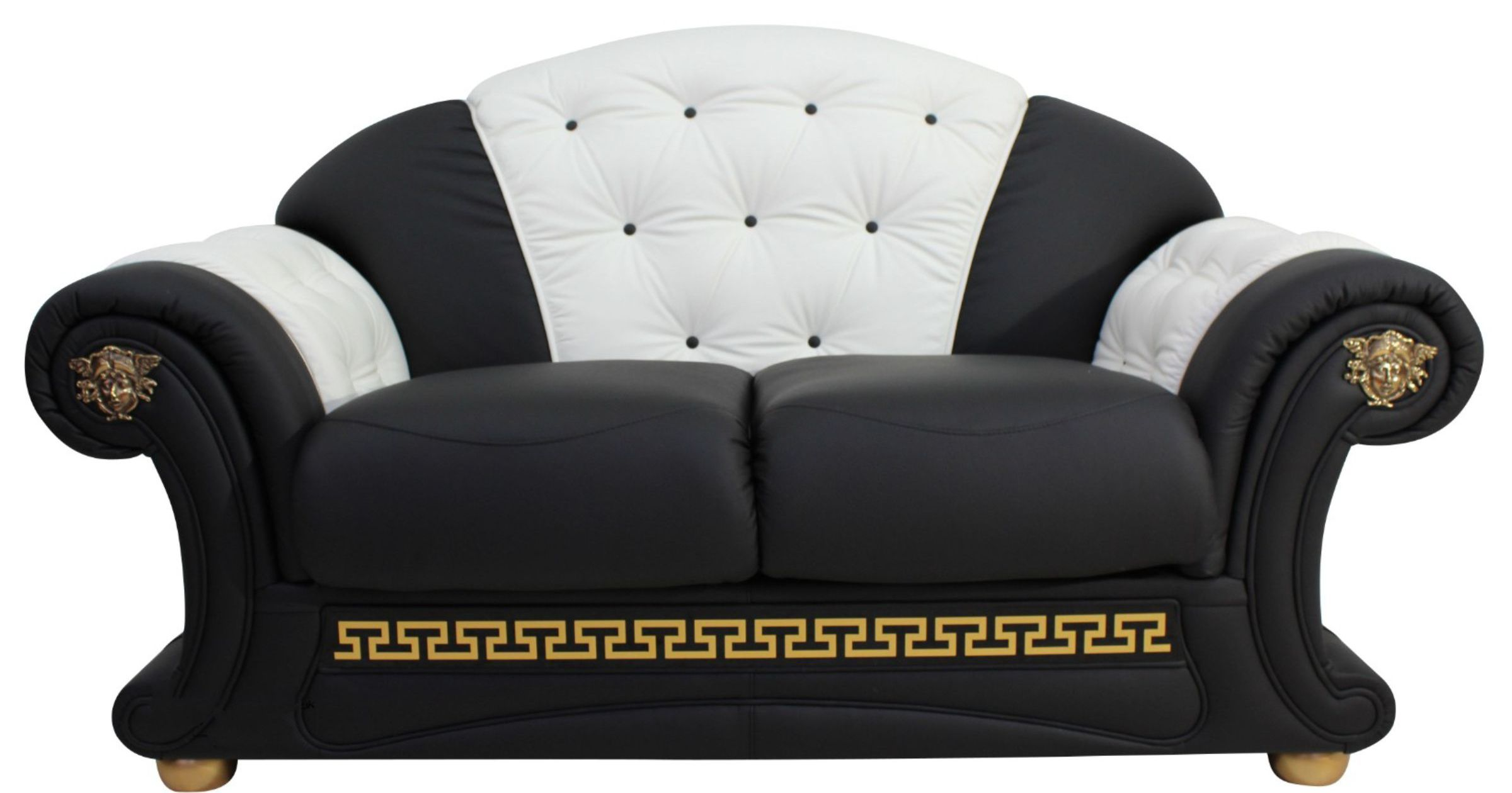 Versace 2 Seater Sofa Settee Genuine Italian Black White